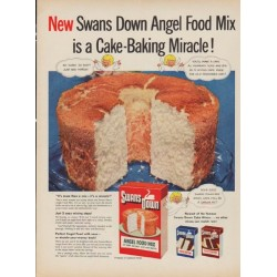 "1952 Swans Down Ad ""Angel Food Mix"""