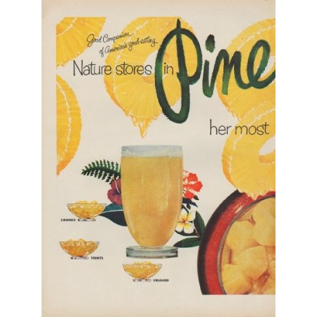 """1952 Pineapple Growers Association Ad """"Nature stores"""""""