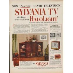 "1952 Sylvania TV Ad ""New '53 UHF-VHF Television"""