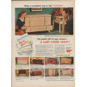 "1952 The Lane Company Ad ""The perfect gift"""