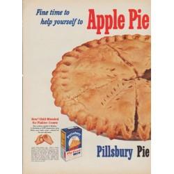 "1952 Pillsbury Ad ""Apple Pie"""