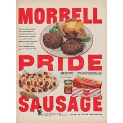 """1952 Morrell Ad """"Morrell Pride Sausage"""""""