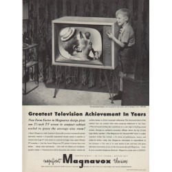 "1952 Magnavox Ad ""Greatest Television Achievement In Years"""