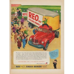 "1952 REO Motors Ad ""REO for Pulling Power!"""