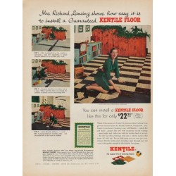 "1952 Kentile Floor Ad ""Mrs. Richard Lansing"""
