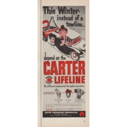 "1952 Carter Carburetor Corporation Ad ""This Winter"""