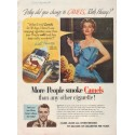 "1952 Camel Cigarettes Ad ""Ruth Hussey"""