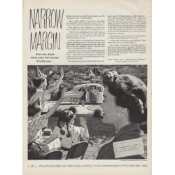 "1951 New York Life Insurance Company Ad ""Narrow Margin"""