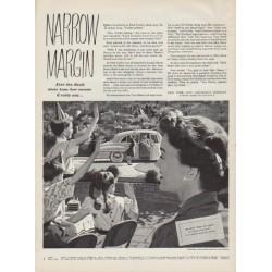 """1951 New York Life Insurance Company Ad """"Narrow Margin"""""""