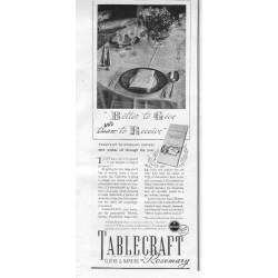 1937 Tablecraft By Rosemary Cloth Napkins Ad