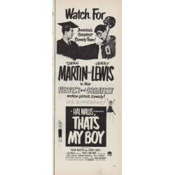 "1951 That's My Boy Ad ""America's Greatest Comedy Team"""