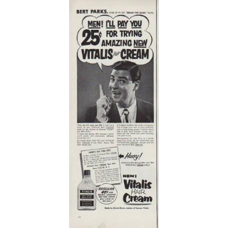 "1951 Vitalis Ad ""Bert Parks"""