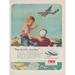 "1951 Trans World Airlines Ad ""That's the 5:15"""