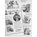 "1937 Talon Slide Fastener Ad ""One Pants Man"""