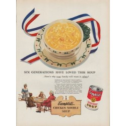 "1951 Campbell's Soup Ad ""Six Generations"""