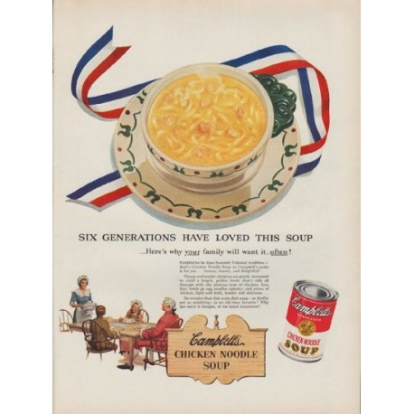 """1951 Campbell's Soup Ad """"Six Generations"""""""