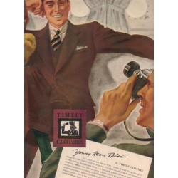 "1937 Timely Clothes Ad ""Young Man, Relax"""