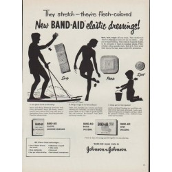"1951 Band-Aid Ad ""elastic dressings"""