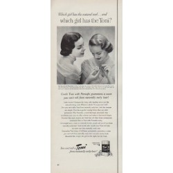 """1951 Toni Home Permanent Ad """"which girl has the Toni?"""""""