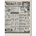 "1951 Rexall Drug Store Ad ""August Savings"""