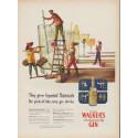 "1951 Hiram Walker's Gin Ad ""Imported Botanicals"""