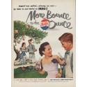 """1951 Pepsi-Cola Ad """"More Bounce"""""""