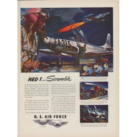 "1951 Air Force Ad ""Red 1 ... Scramble"""