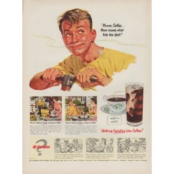 "1951 Pan-American Coffee Bureau Ad ""Mom knows"""