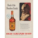 """1951 Old Grand-Dad Ad """"Head of the Bourbon Family"""""""
