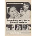 "1953 Bromo-Seltzer Ad ""works Best"""