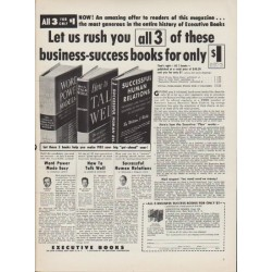 "1953 Executive Books Ad ""business-success books"""