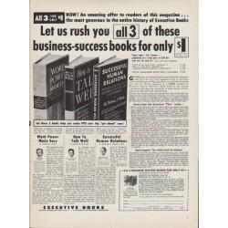 """1953 Executive Books Ad """"business-success books"""""""