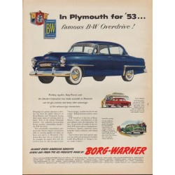 "1953 Plymouth Ad ""Cranbrook"" (Model Year 1953)"
