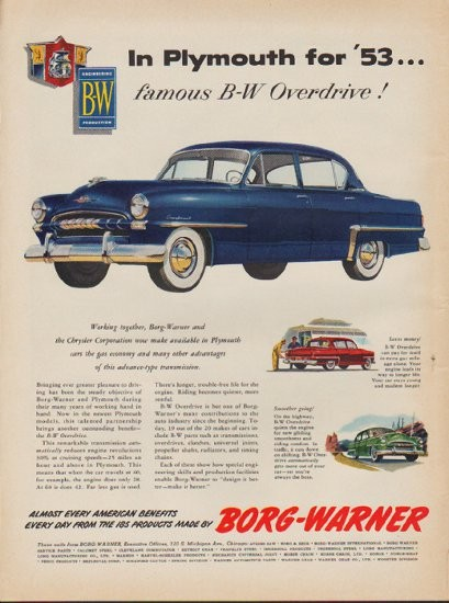 1953 Plymouth Ad Quot Cranbrook Quot Model Year 1953
