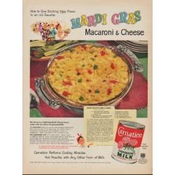 "1953 Carnation Milk Ad ""Mardi Gras"""