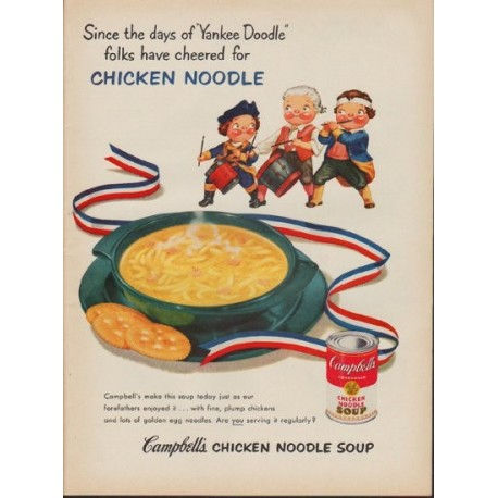 """1953 Campbell's Soup Ad """"Yankee Doodle"""""""