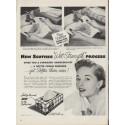 "1953 Scotties Tissues Ad ""Wet-Strength"""