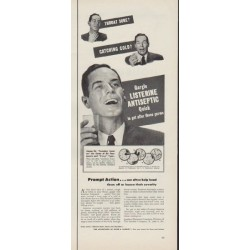"1953 Listerine Ad ""Throat Sore?"""