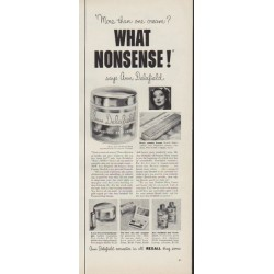 "1953 Ann Delafield Ad ""What Nonsense!"""