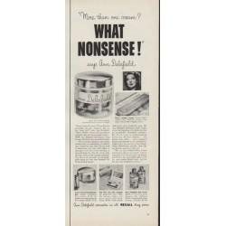 """1953 Ann Delafield Ad """"What Nonsense!"""""""