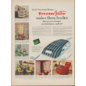 "1953 Firestone Ad ""makes them lovelier"""
