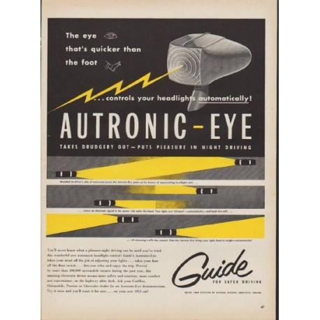"1953 General Motors Ad ""Autronic-Eye"""