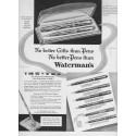 "1937 Waterman's Pens Ad ""No Better Gifts"""
