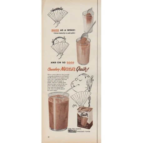 """1953 Nestle's Ad """"Quick As A Wink!"""""""