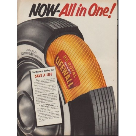 "1953 United States Rubber Company Ad ""All in One!"""