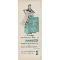 "1953 Aquamarine Lotion Ad ""For you!"""