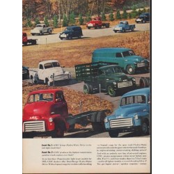 "1953 GMC Trucks Ad ""Revolution on Wheels"""