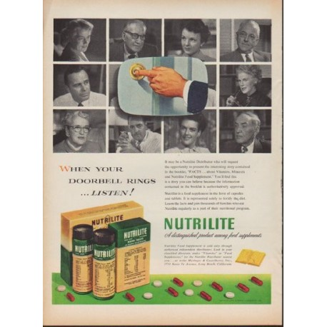 """1953 Nutrilite Ad """"When Your Doorbell Rings"""""""