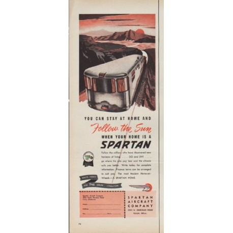 "1953 Spartan Aircraft Company Ad ""You can stay at home"""