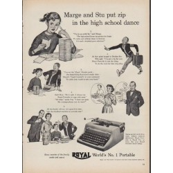 "1953 Royal Typewriter Ad ""Marge and Stu"""